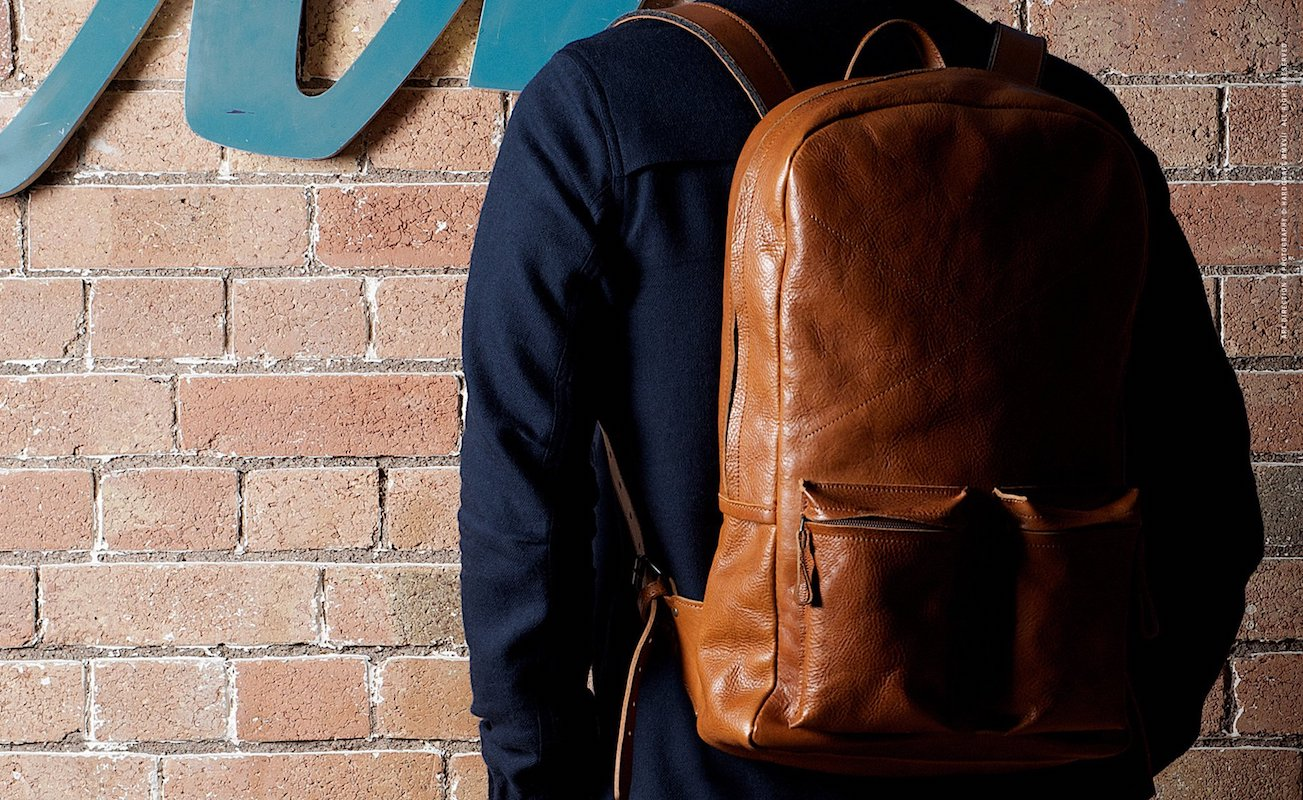 Hard Graft Old School Leather Backpack