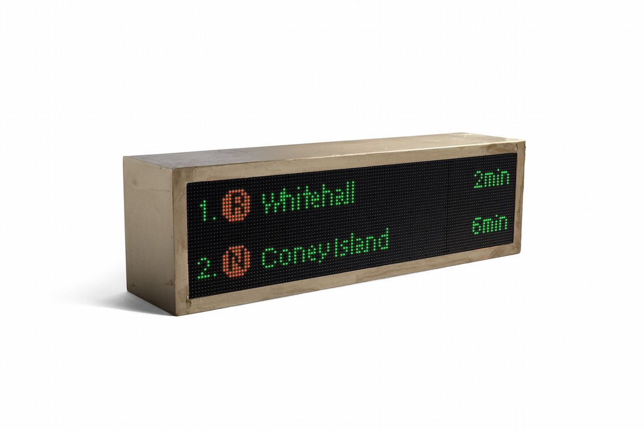 NYC Train Sign Smart Display