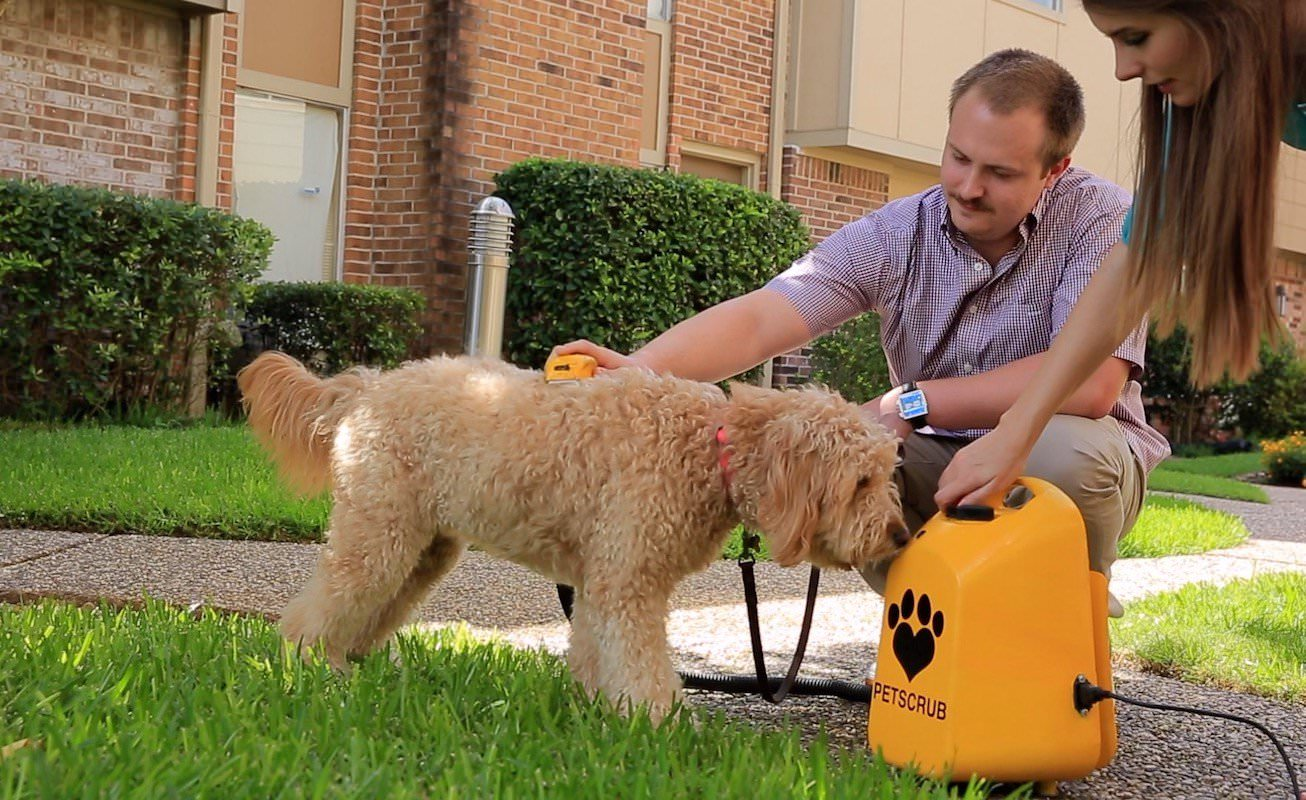 PetScrub helps you clean your dog without the mess