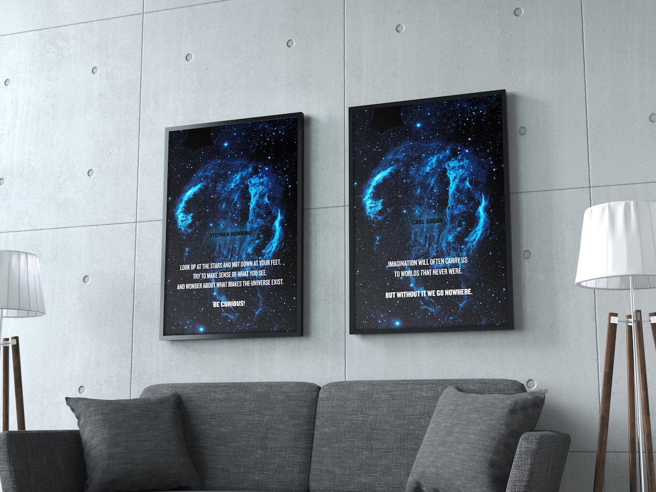 Quotes of the 5th Dimension Cosmic Posters