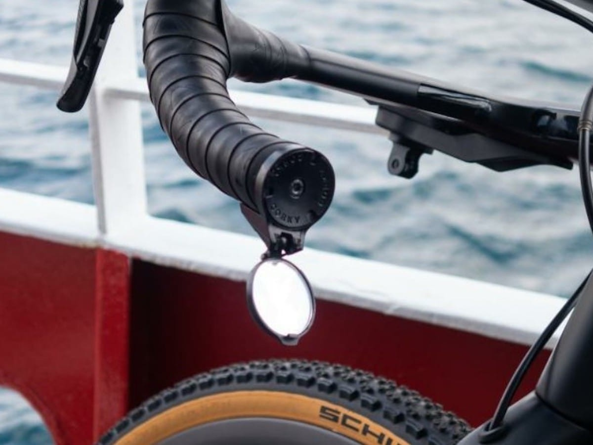 THE BEAM Corky rearview cycling mirror is a must for both commuters and serious cyclists