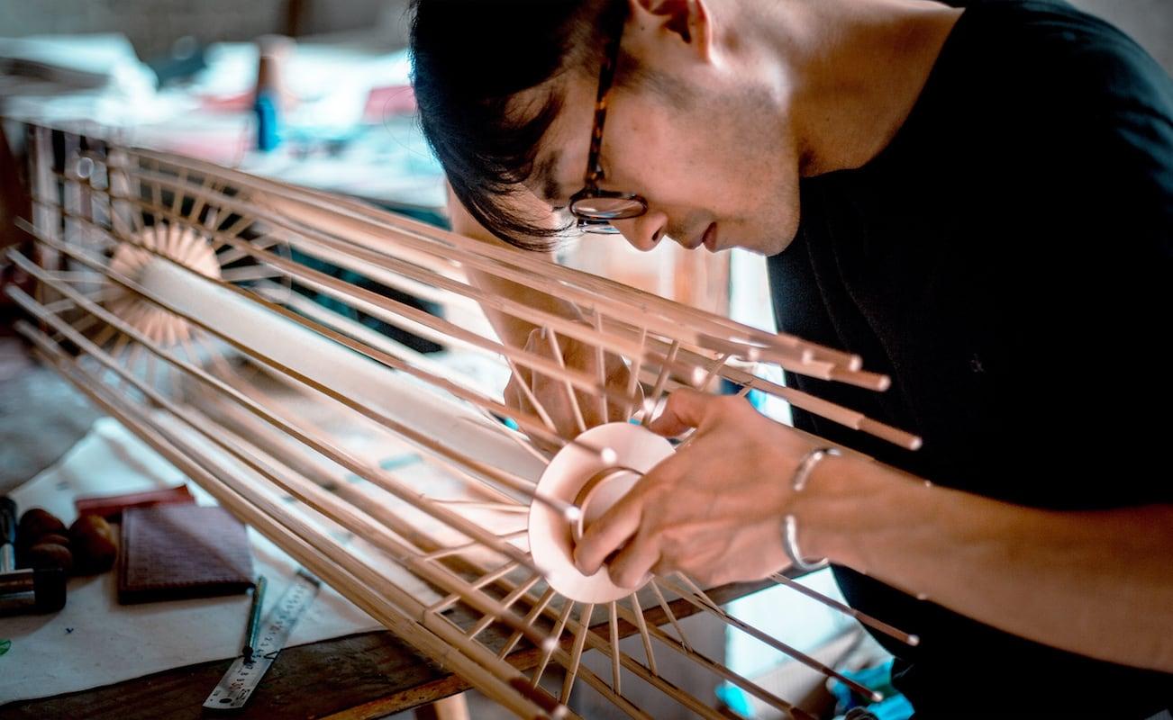 Umbrellamp Oil Paper Umbrella Lamp