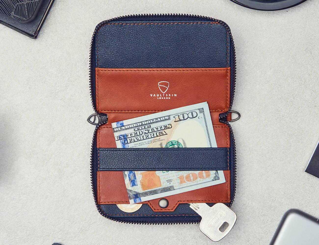 Vaultskin Notting Hill Slim Zip Wallet