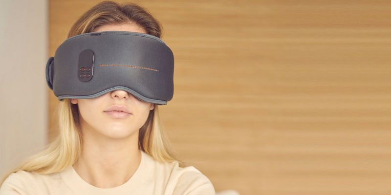 Rechargeable sleep mask for optimal rest