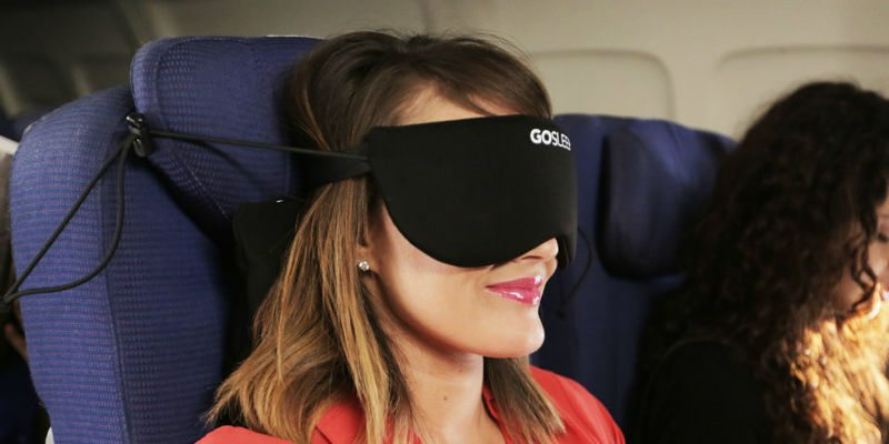 Travel pillow and sleep mask in one.