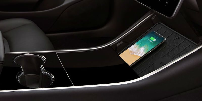Wireless charging pad for your Tesla
