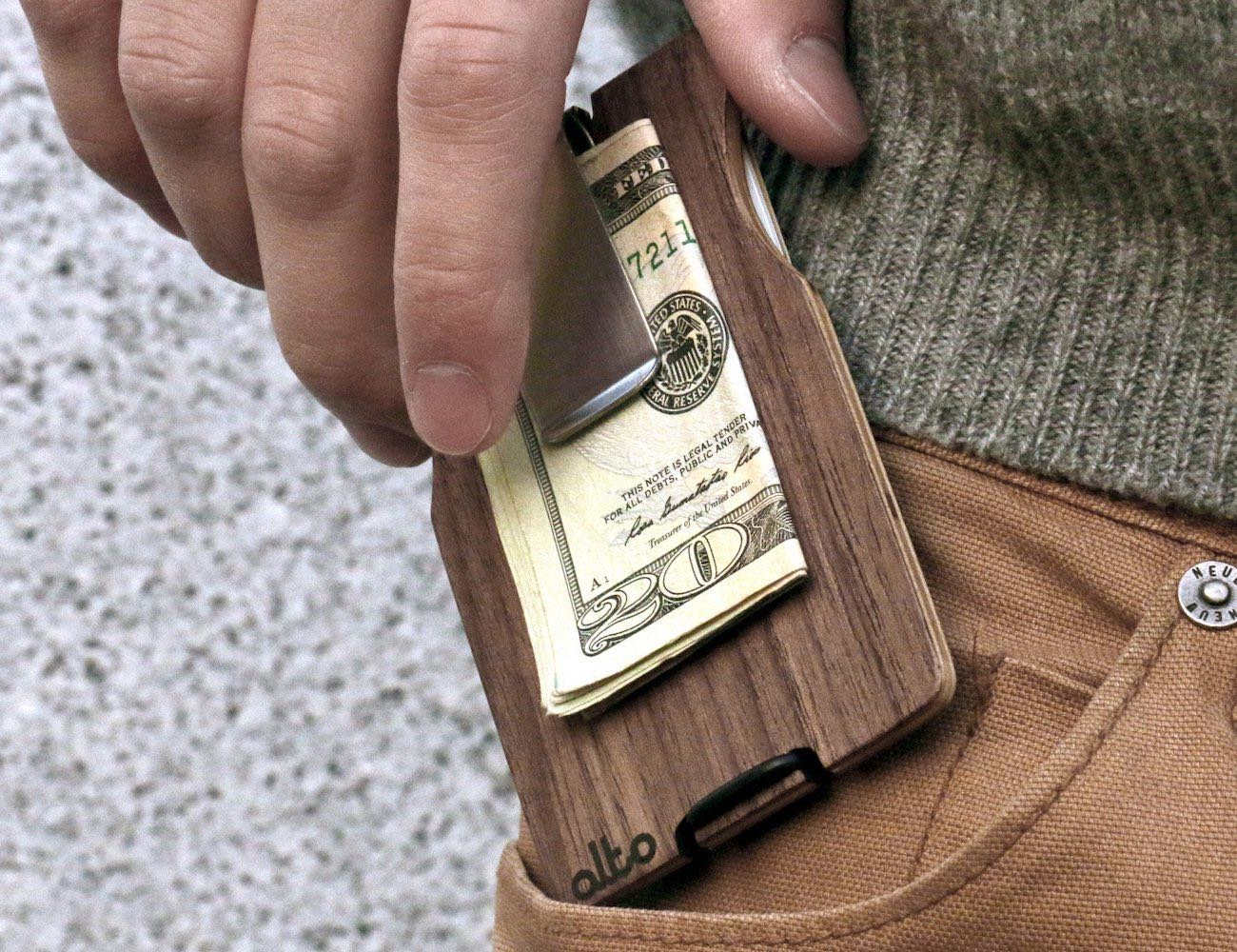 Alto Collective Minimalist Wood Wallet