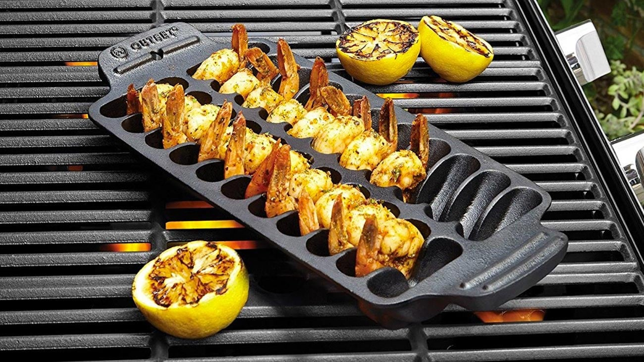 Crate&Barrel Cast Iron Shrimp Grill Pan