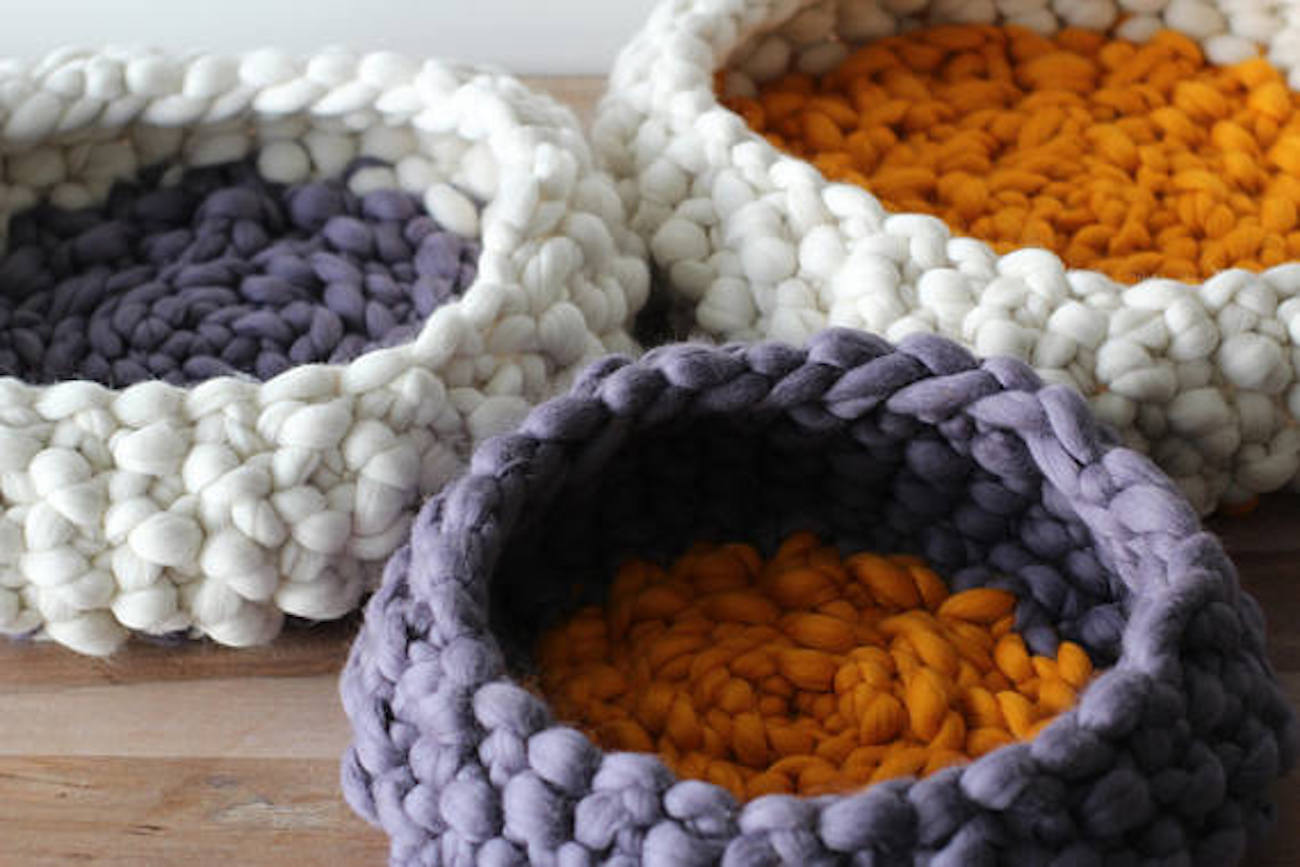 ESNQknit Chunky Knit Pet Bed