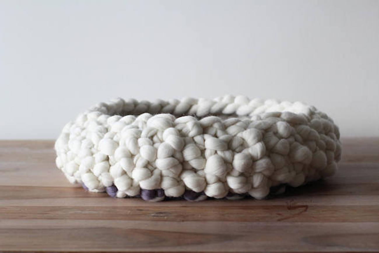 ESNQknit Chunky Knit Pet Bed