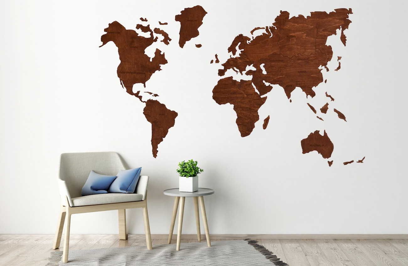 Enjoy The Wood Travel Wooden World Map