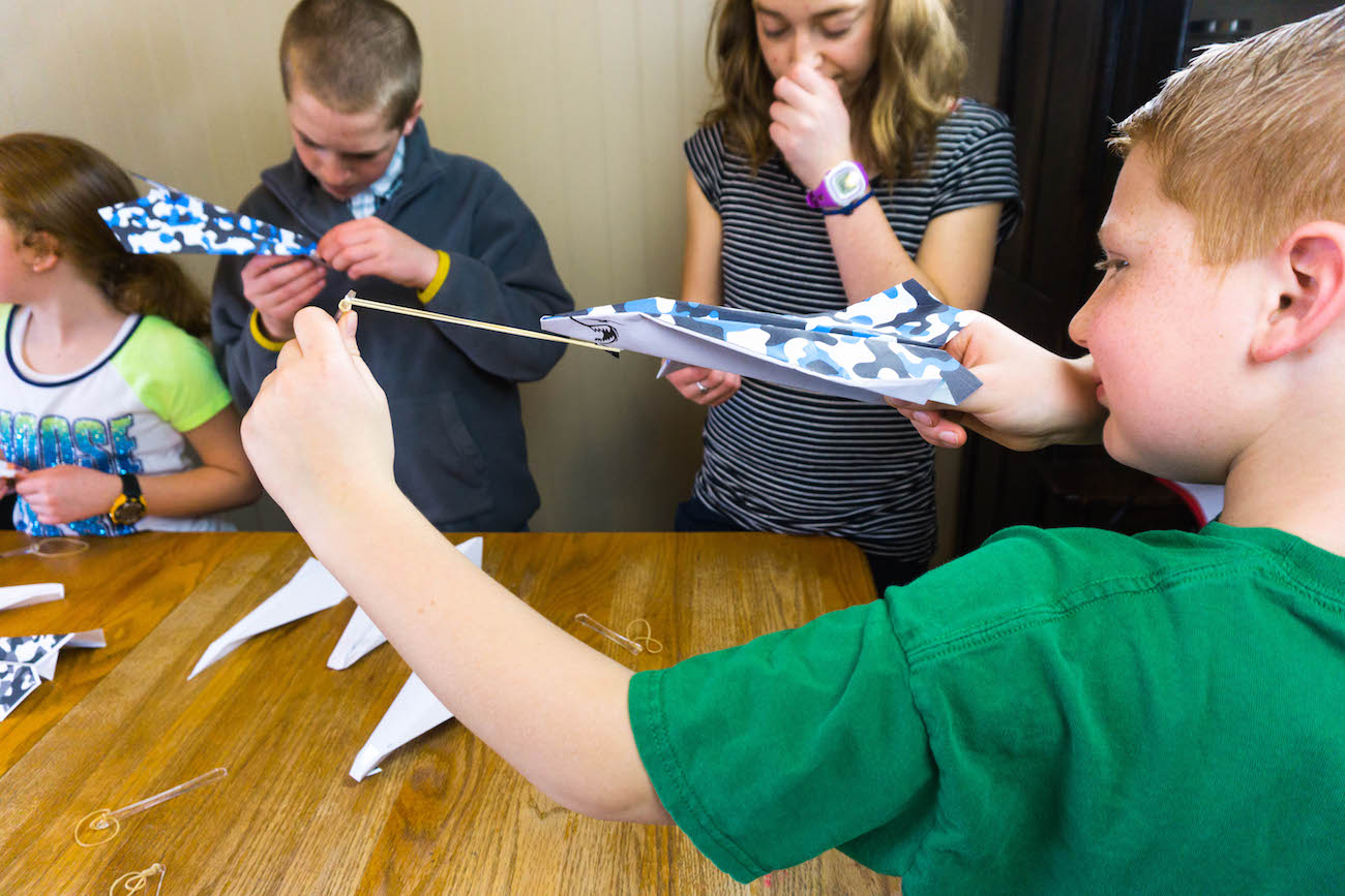 Fling Paper Airplane Launch System
