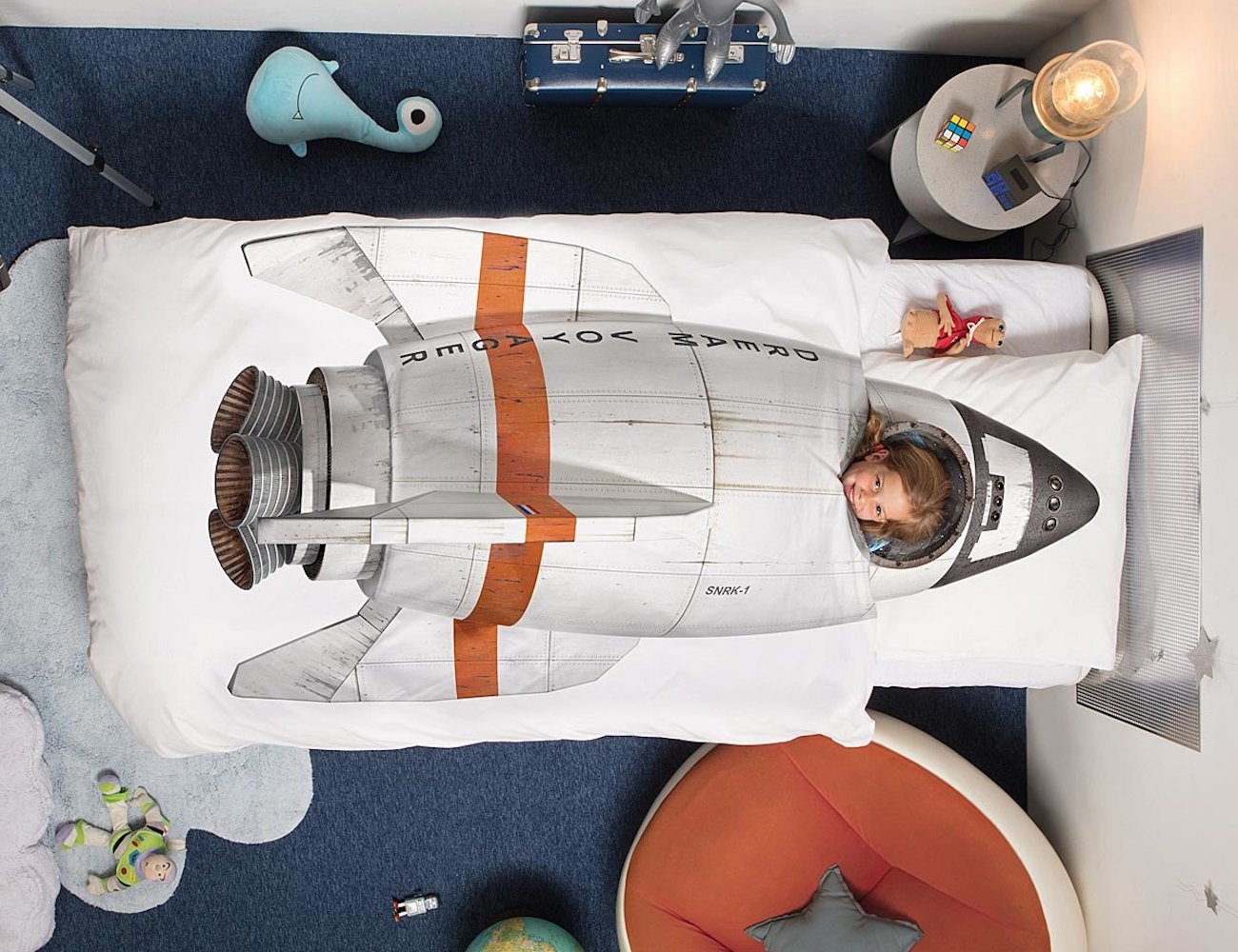Kids Space Rocket Bedding Set