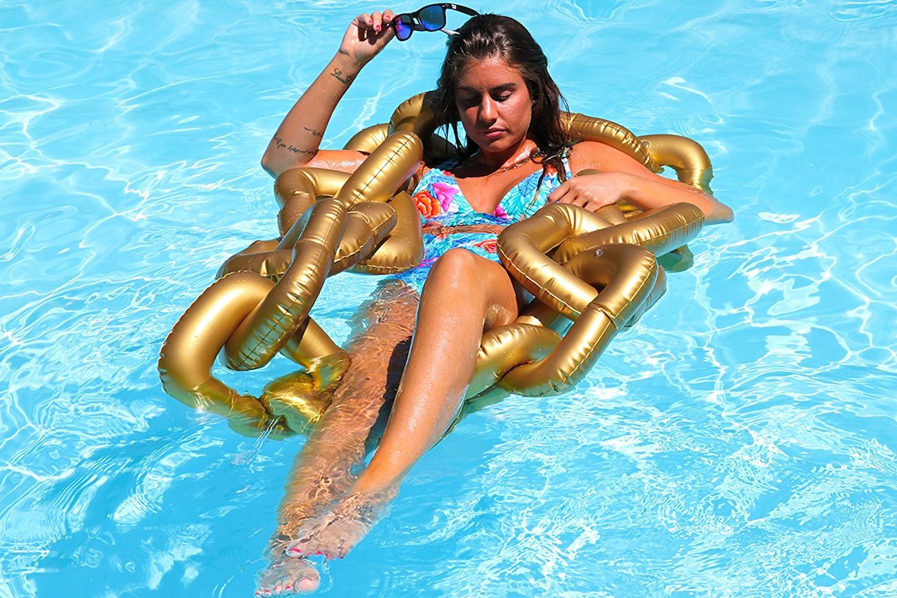 Kool Pool Inflatable Gold Chain Pool Float