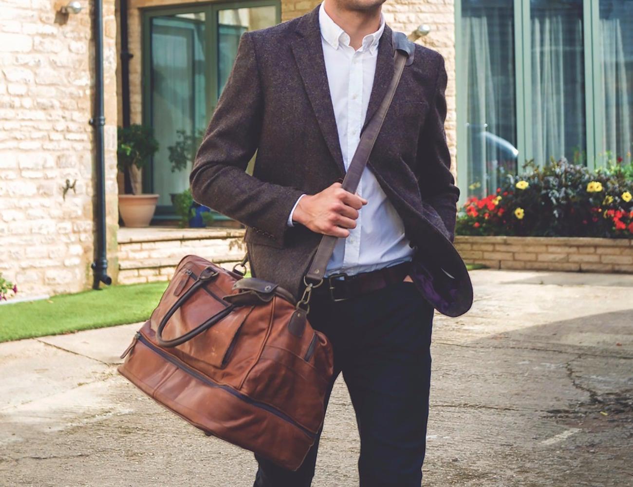 MAHI+Leather+Raleigh+Travel+Holdall+Bag