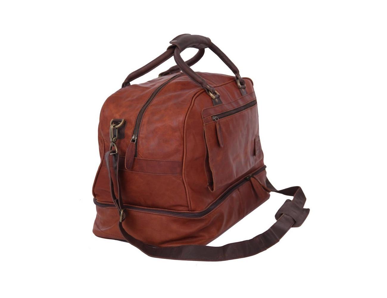 MAHI Leather Raleigh Travel Holdall Bag