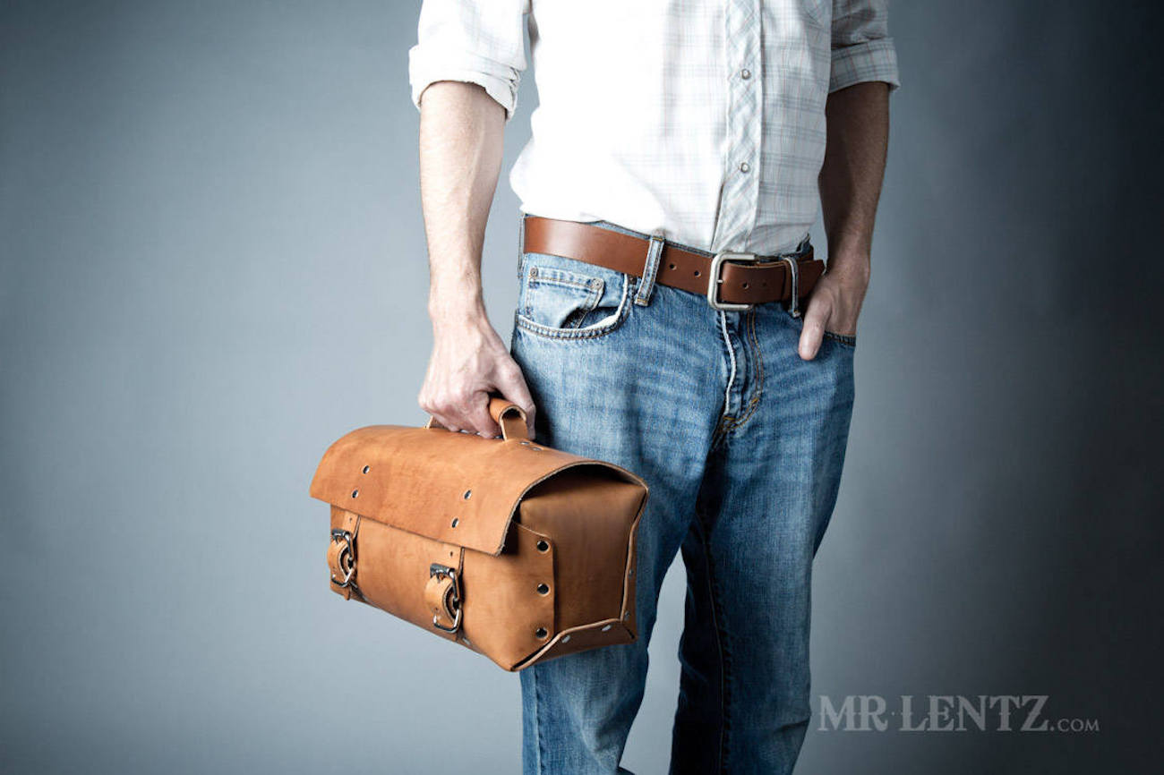 Mr. Lentz Men's Leather Work Bag