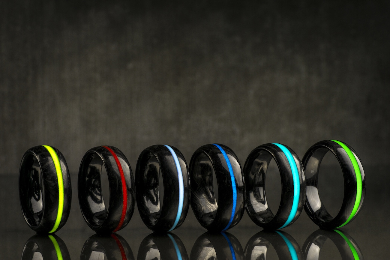 Nerbon Forged Carbon Fiber Glow Rings