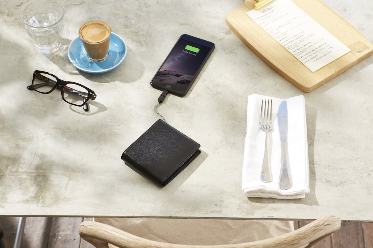 Orbit Leather Phone Charging Wallet