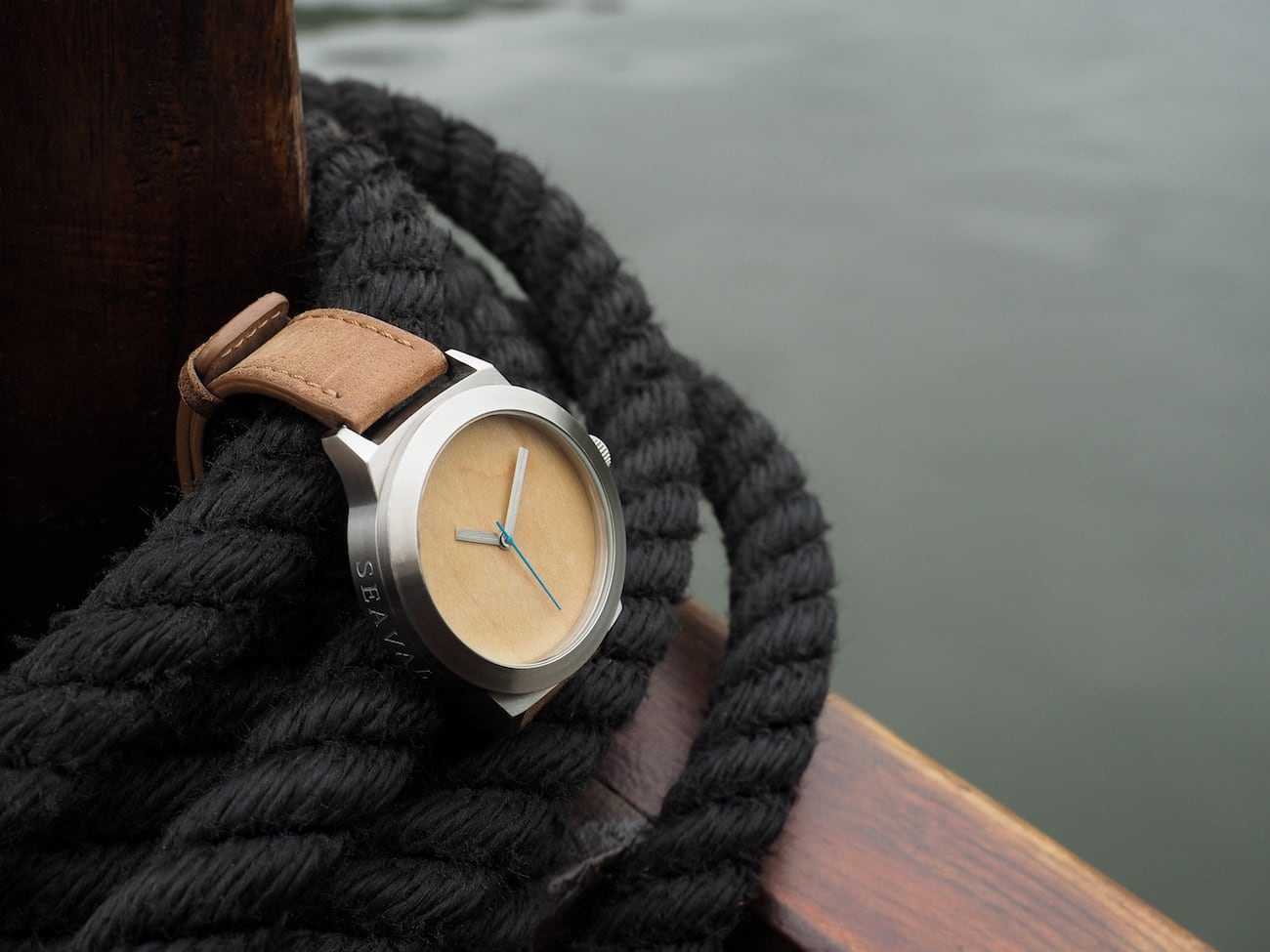 Seaval Water Resistant Wood Watches