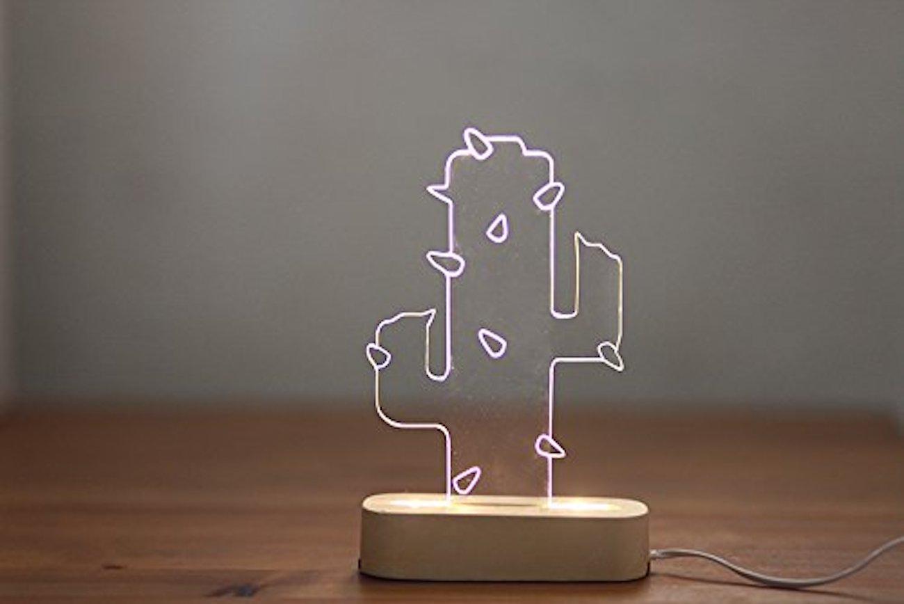 SturlesiDesign Concrete Cactus Lamp