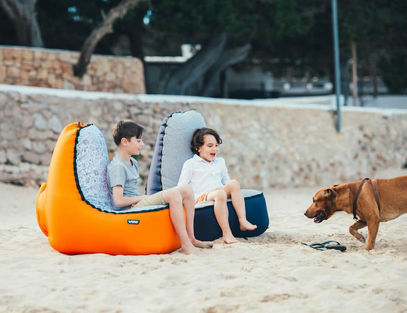 Your kids will love relaxing on the new TRONO inflatable loungers