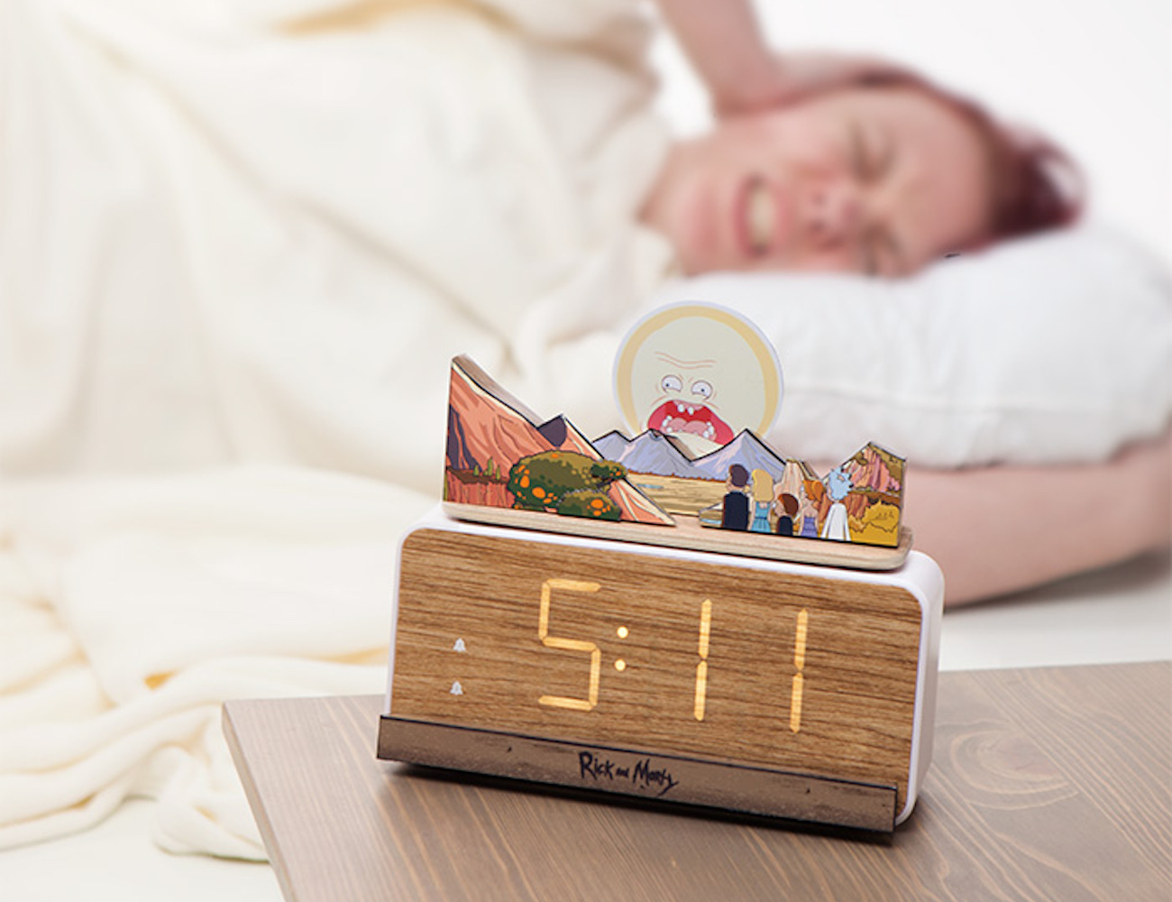 ThinkGeek Rick and Morty Screaming Sun Alarm Clock