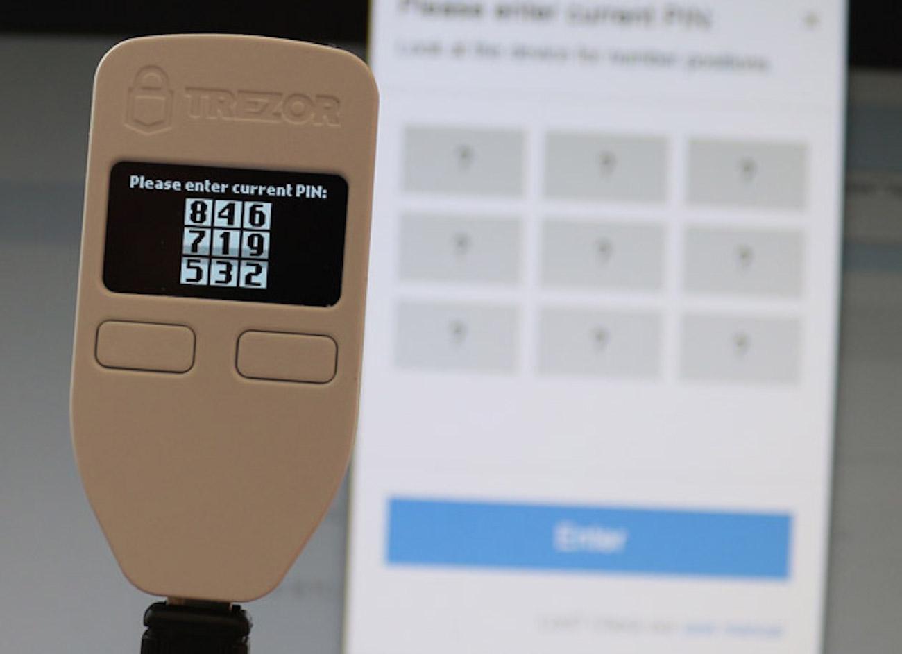Trezor One Hardware Bitcoin Wallet