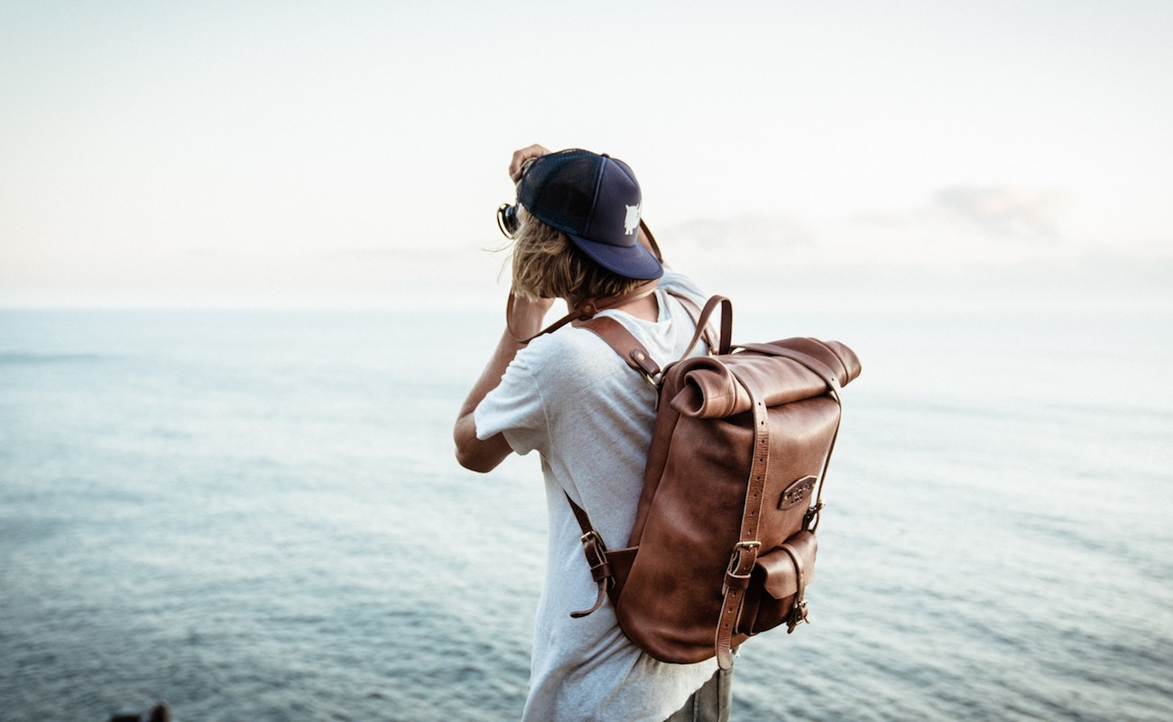 Welsh Mtn Co. Leather Rolltop Backpack