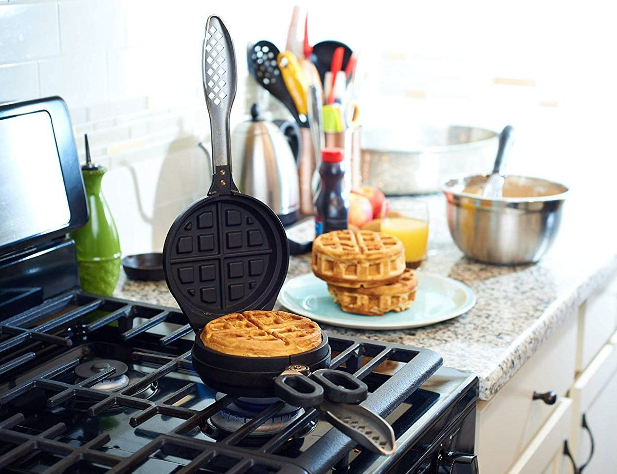 Wonderffle Stuffed Waffle Iron fills Belgian-style waffles with yummy ingredients