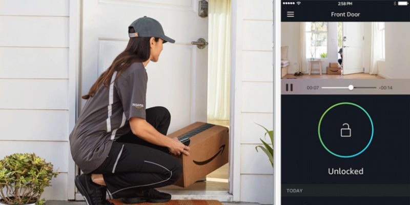 Amazon Key allows Amazon delivery drivers to securely place your packages inside the house.