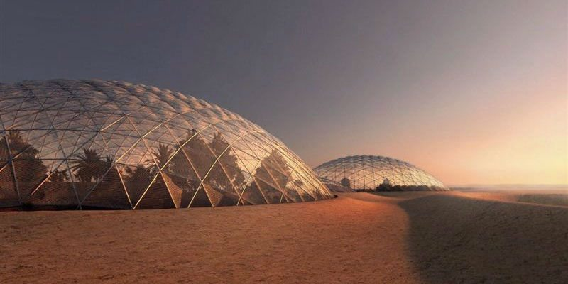 Martian city in the Emirati desert