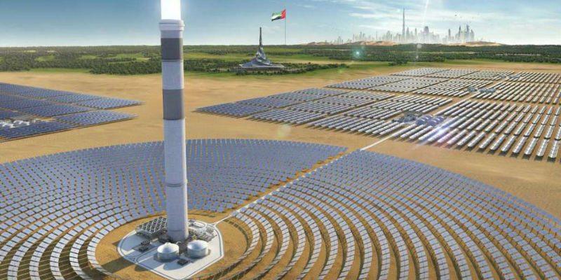 Mega solar park in Dubai