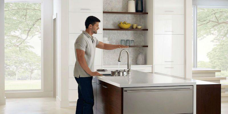 Moen hands-free kitchen faucet
