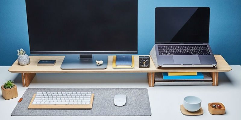 Grovemade Wood Desk Shelf System
