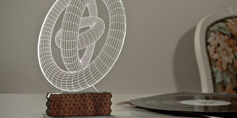 Zinteh Circles 3D Illusion Table Lamp