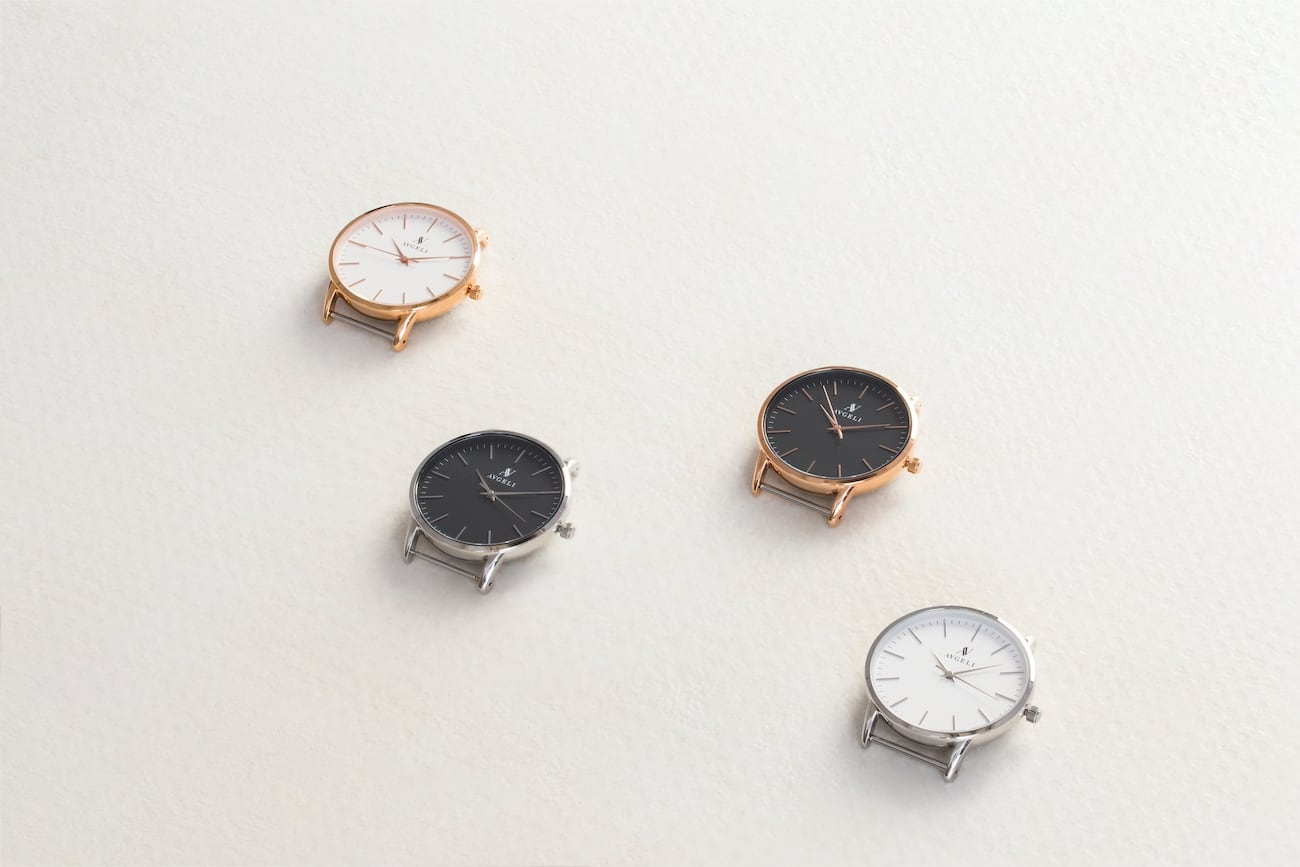 Avgeli Perlon Interchangeable Minimalist Watches