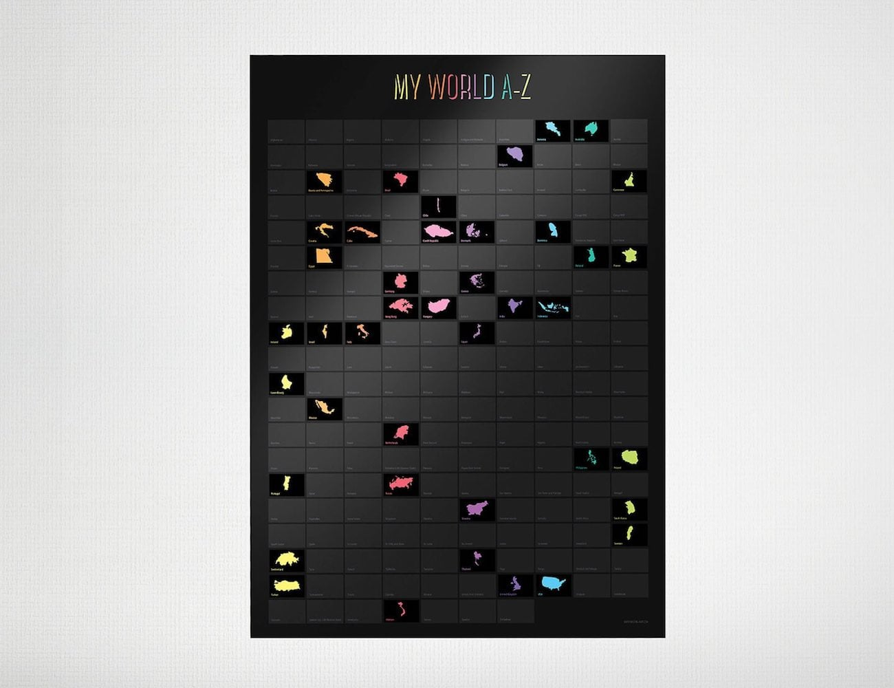 Awesome Maps World A-Z Scratch Map
