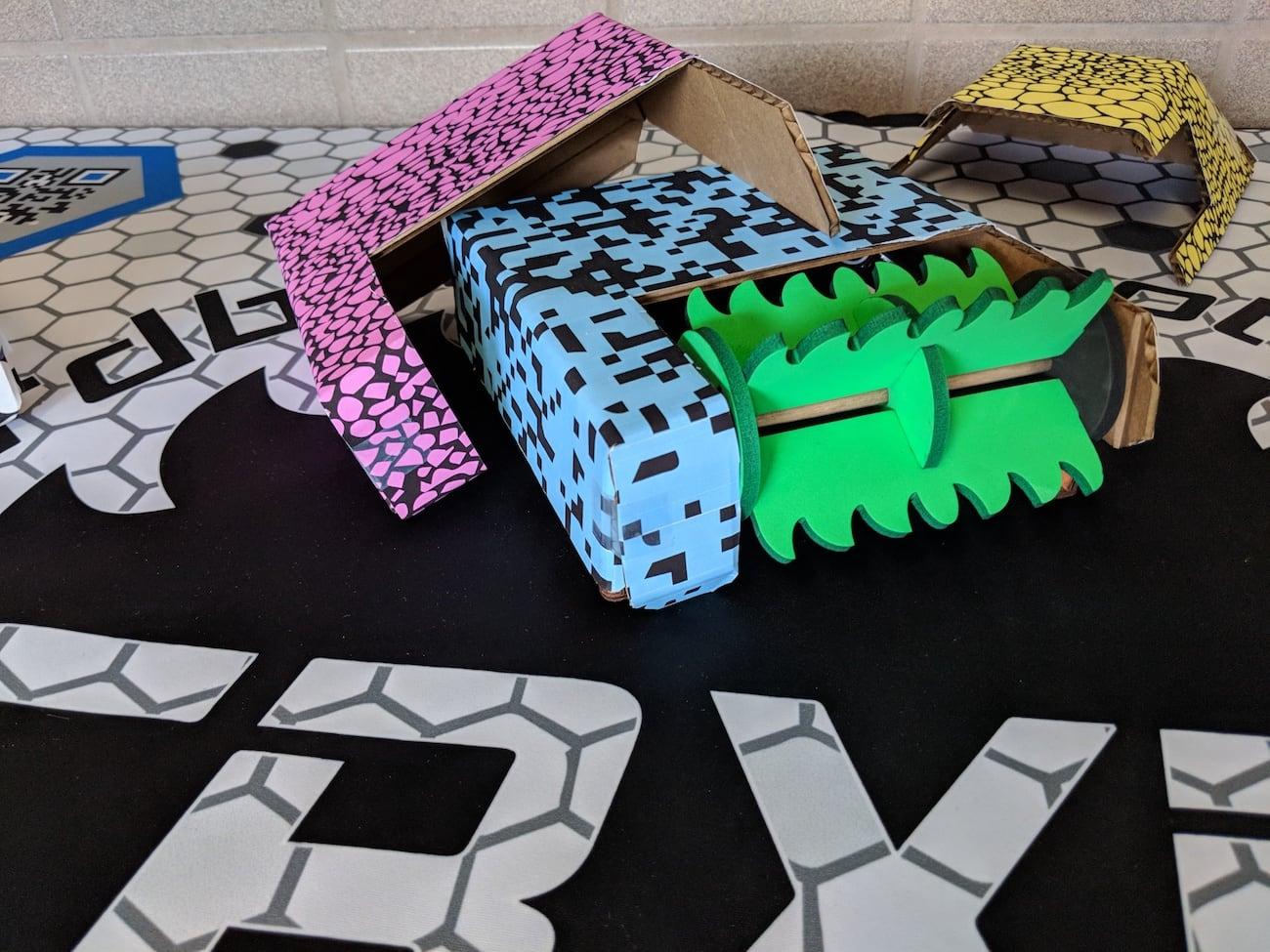 Cardboard Mixed Reality Robot Arena