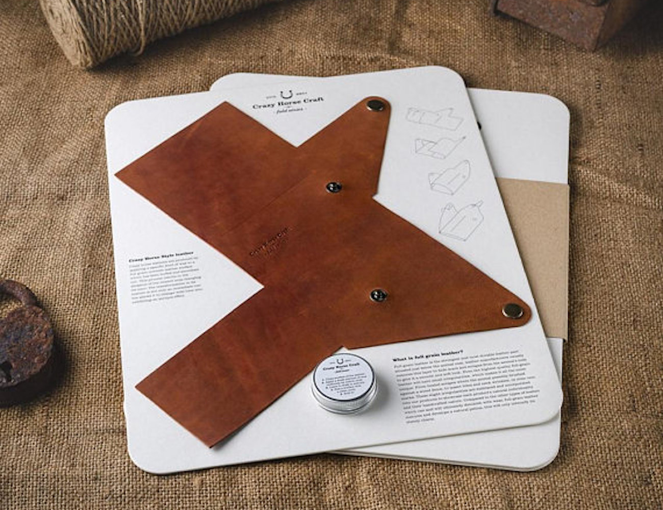 Crazy Horse Craft Foldable Leather Wallet