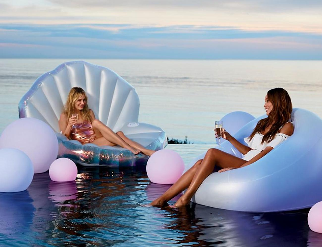 Frontgate Glow Float Inflatable Lounge Chair
