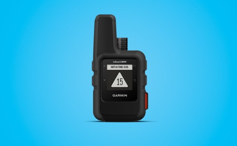 Garmin inReach Mini Compact Satellite Communicator is a palm-sized emergency device