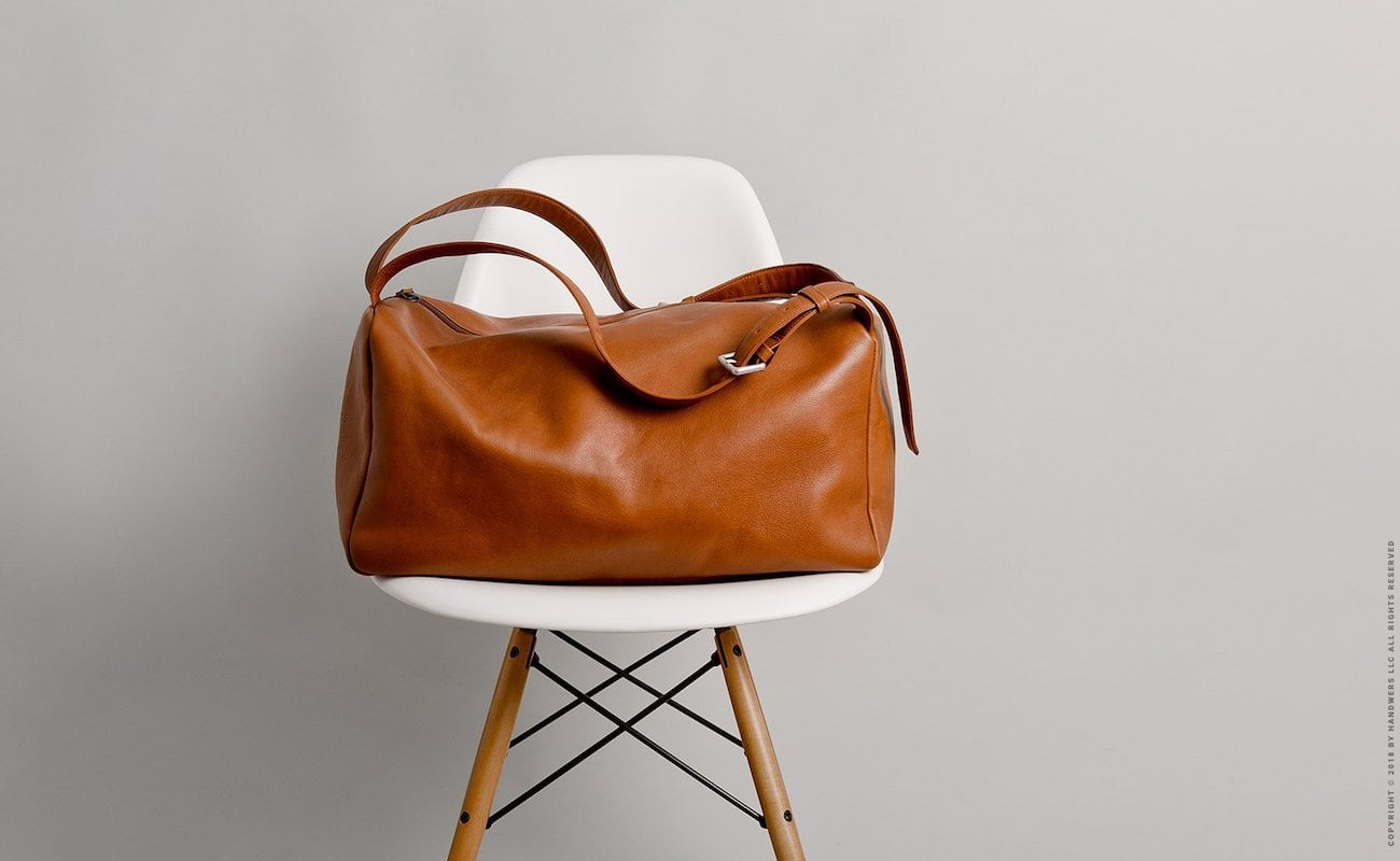 Handwers Handmade Leather Duffle Bag