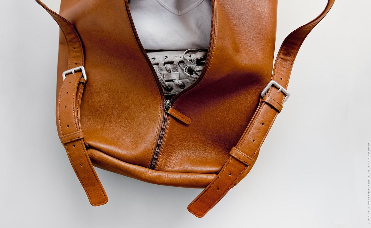 Handwers Handmade Leather Duffle Bag