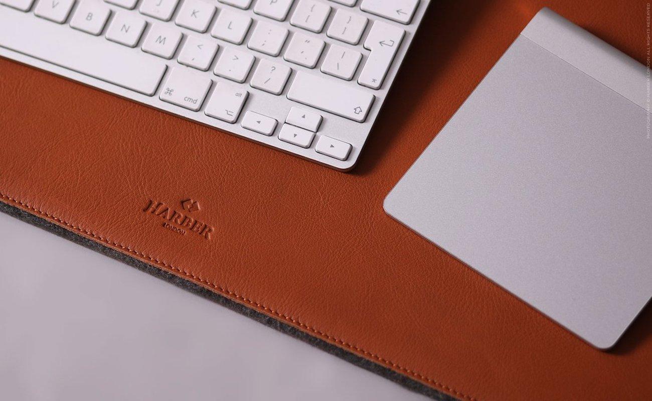 Harber London Leather Desk Mat