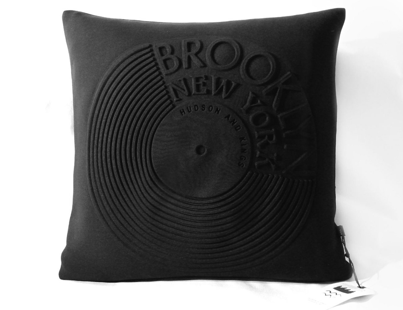 Hudson and Kings Brooklyn Record Cushion Cover