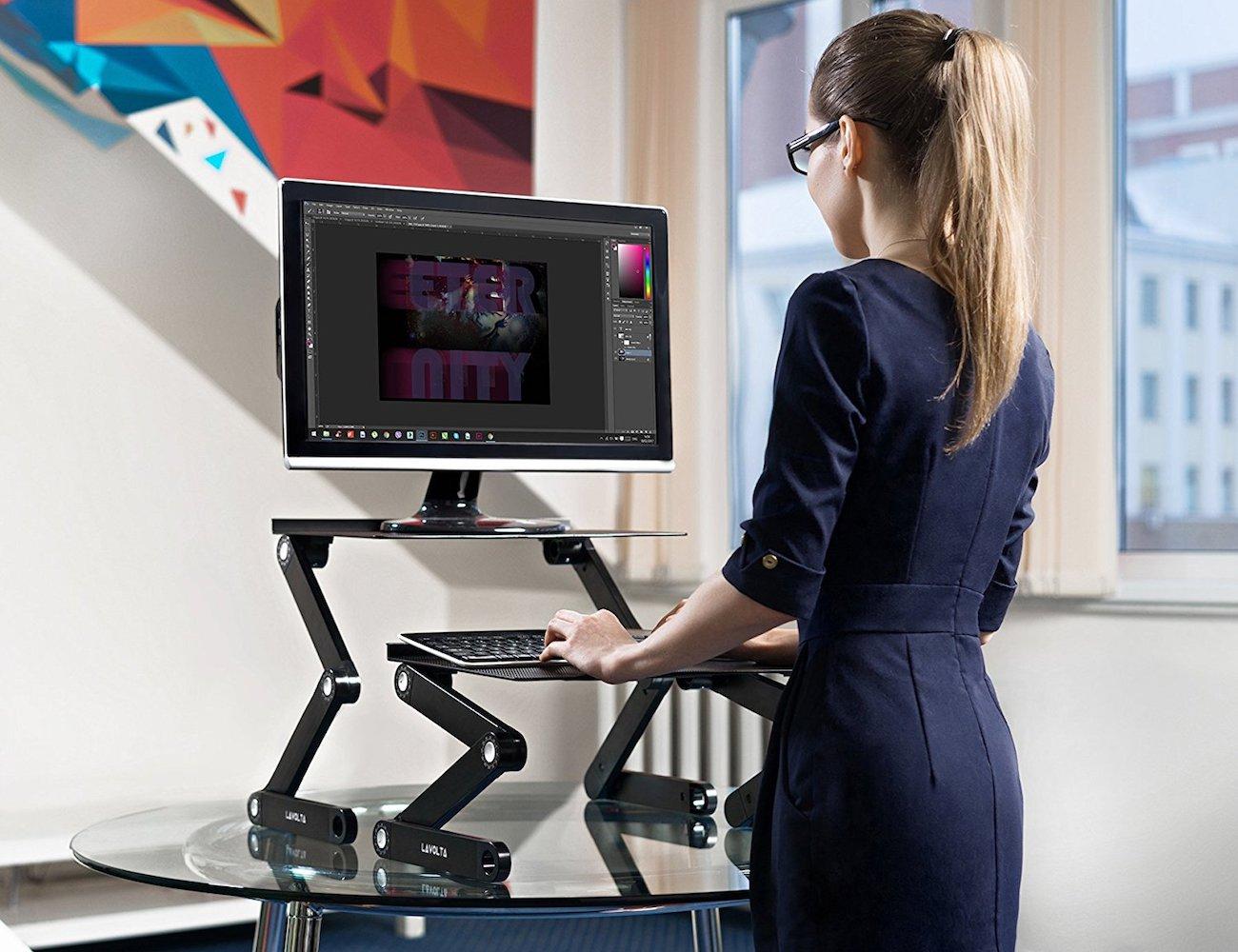 Lavolta Ergonomic Foldable Laptop Stand improves your productivity