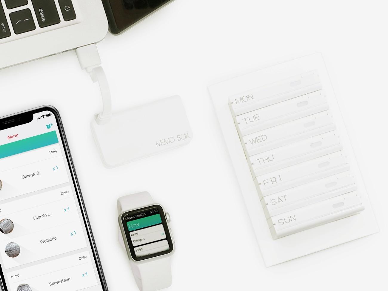 Memo Box Weekly Smart Pill Box Set