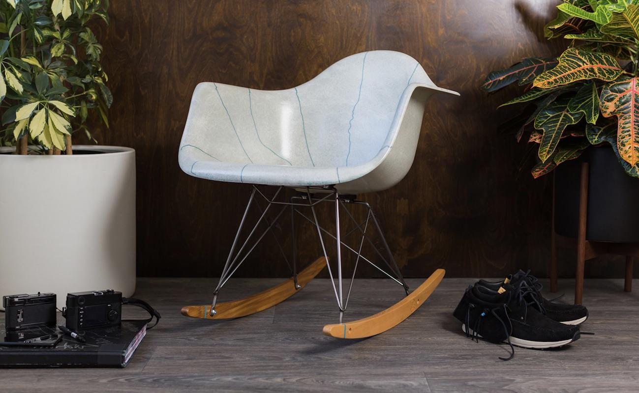 Modernica x Stance Arm Shell Rocking Chair