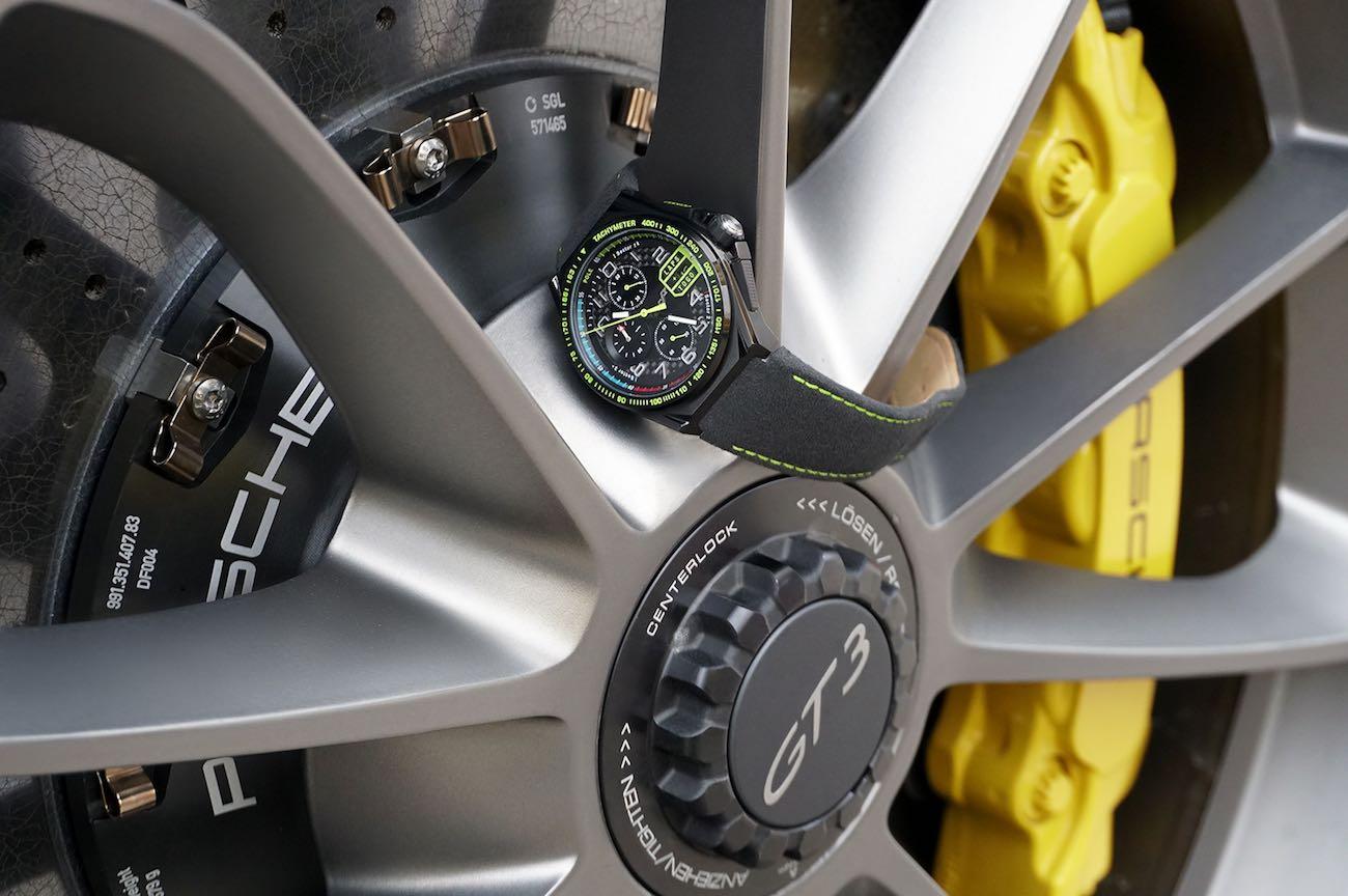 Paddock Chronograph Racing-Inspired Carbon Fiber Watch